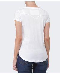 True Religion - White Cross Diamante T-shirt - Lyst
