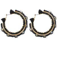 Butterfly | Black Himalaya Hoop Earrings | Lyst