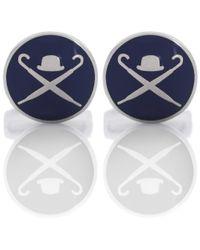 Hackett - Blue Domed Logo Cufflinks for Men - Lyst