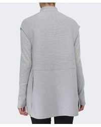 Duffy | Gray Knitted Longline Gilet | Lyst
