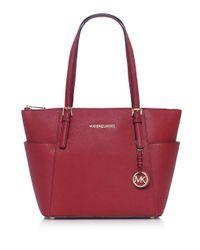 MICHAEL Michael Kors | Red Jet Set Tote Bag | Lyst