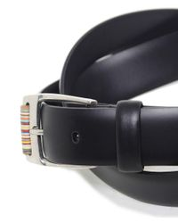 Paul Smith - Black Roller Leather Belt for Men - Lyst