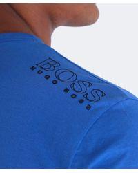BOSS Green   Blue Regular-fit T-shirt In Single Jersey for Men   Lyst