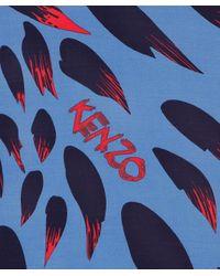 KENZO | Blue Bamboo Scarf | Lyst