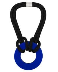 Christina Brampti - Blue Double Rope Circle Necklace - Lyst