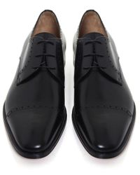 Stemar - Black Perugia Leather Derby Shoes for Men - Lyst