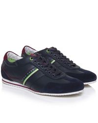 BOSS Green - Blue Victorie Fiction Trainers for Men - Lyst