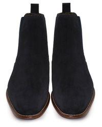 Joss | Blue Suede Savana Chelsea Boots for Men | Lyst