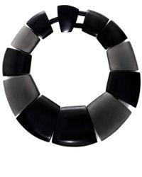 Monies | Black Oversized Ebony Stone Necklace | Lyst