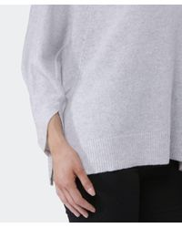 Duffy Gray Cowl Neck Cashmere Jumper