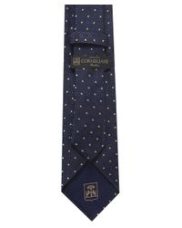 Corneliani Blue Square Patterned Tie for men