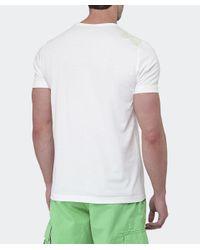 BOSS Green White Crew Neck T-shirt for men