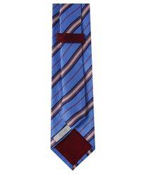 Eton of Sweden Blue Diagonal Stripe Silk Tie for men