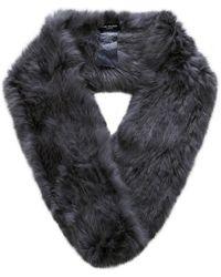 Yves Salomon | Gray Fur Loop Scarf | Lyst
