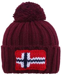 Napapijri - Red Semiury 1 Beanie Hat for Men - Lyst