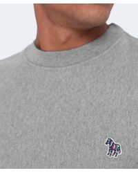 PS by Paul Smith - Gray Organic Cotton Zebra Sweatshirt for Men - Lyst