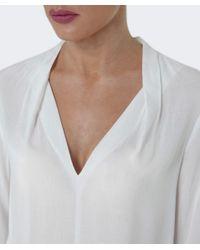 Velvet By Graham & Spencer White Sarafina V-neck Top