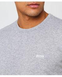 BOSS - Gray Regular Fit Crew Neck Tee T-shirt for Men - Lyst