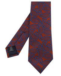 Corneliani - Brown Paisley Tie for Men - Lyst