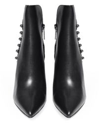 Kendall + Kylie Black Suede Leah Ankle Boots