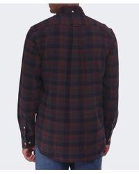 Gant Brown Merrick Oxford Check Shirt for men