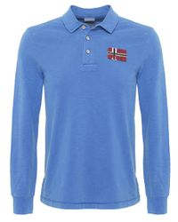 Napapijri | Blue Esauf Long Sleeve Polo Shirt for Men | Lyst