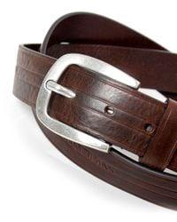 Armani Jeans Brown Leather Logo Belt for men