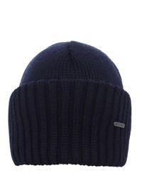 Stetson | Blue Merino Wool Beanie Hat for Men | Lyst