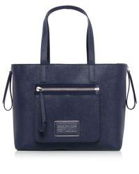 Marc Jacobs Blue Zip It Saffiano Zipper Tote Bag