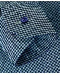 Eton of Sweden - Green Slim Fit Micro Check Shirt for Men - Lyst