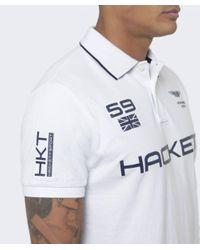 Hackett | White Aston Martin Racing Tipped Polo Shirt for Men | Lyst