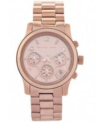 MICHAEL Michael Kors - Metallic Rose Gold Chronograph Michael Kors Watch Mk5128 for Men - Lyst
