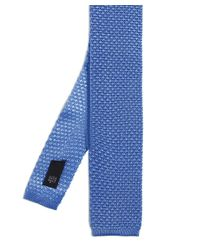 Ascot Accessories Blue Plain Knitted Tie for men