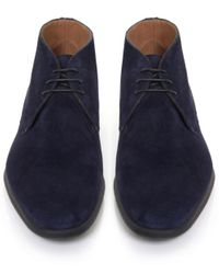 Stemar - Blue Trieste Suede Chukka Boots for Men - Lyst