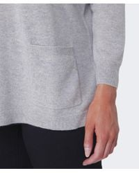 Cocoa Cashmere | Gray Cashmere Pocket Sweater | Lyst