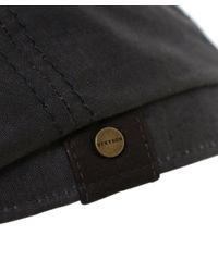 Stetson | Black Hatteras Waxed Cap for Men | Lyst