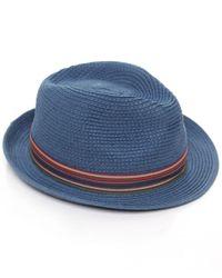 Stetson | Blue Straw Monett Trilby Hat for Men | Lyst