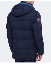Napapijri - Blue Arctic Marine Puffer Jacket for Men - Lyst
