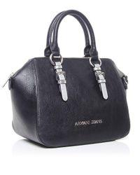 Armani Jeans Black Metallic Strap Doctor's Bag