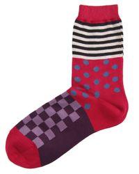 Paul Smith | Red Multi Pattern Socks | Lyst