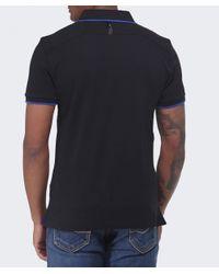 Hackett Black Aston Martin Racing Logo Polo Shirt for men