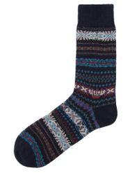 Barbour | Blue Boyd Fairisle Sock for Men | Lyst