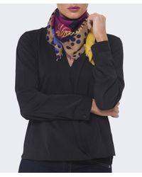 Vivienne Westwood Purple Abstract Multi Print Scarf