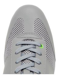 BOSS Green Gray Light Air Trainers for men
