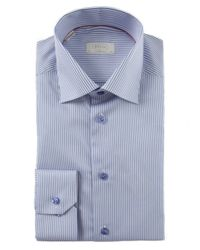 Eton of Sweden Blue Contemporary Fit Striped Shirt for men