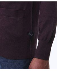 Paul Smith Purple Contrast Trim Cardigan for men