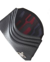 Vivienne Westwood - Black Leather Grain Orb Card Holder for Men - Lyst
