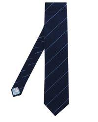 Stenstroms Blue Silk Patterned Tie for men