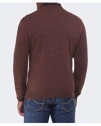 Gant - Brown Cotton Wool Crew Jumper for Men - Lyst