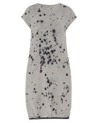 Grizas - Gray Linen Bubble Hem Dress - Lyst